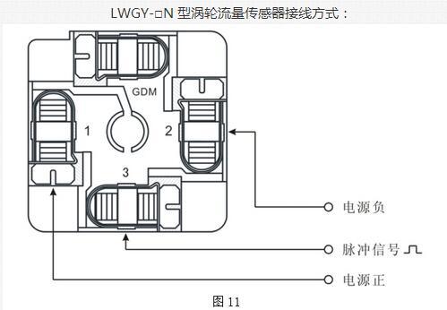 涡轮流量传感器接线方式