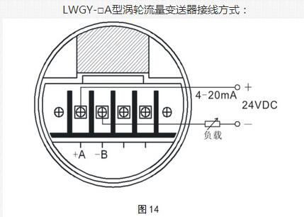 LWGY-A型涡轮流量变送器接线方式